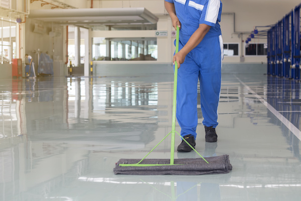 cleaning tile hard floors