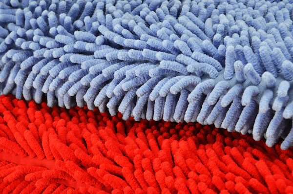 close up of microfiber rags